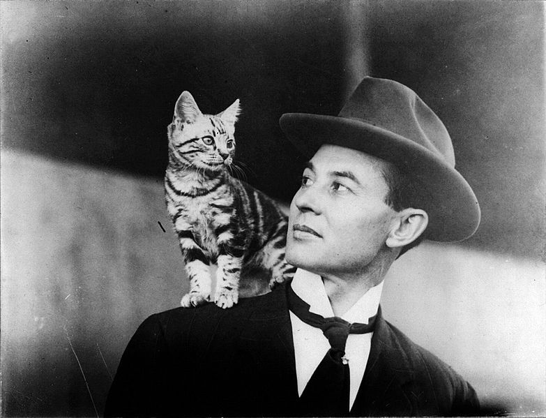 Man With Cat On Shoulder